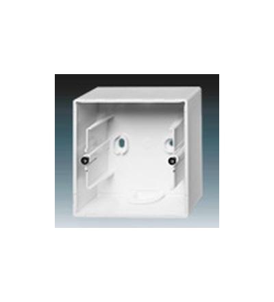 ABB Krabice přístrojová jednonásobná, nástěnná studio bílá 1799-0-0897