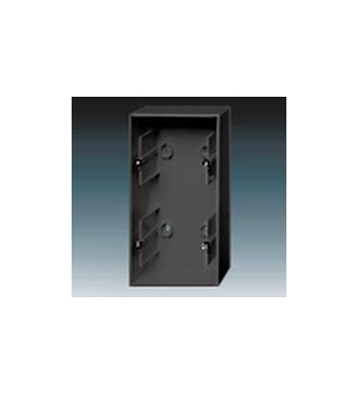 ABB Krabice přístrojová dvojnásobná, nástěnná antracitová 1799-0-0900