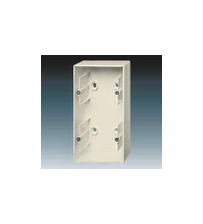 ABB Krabice přístrojová dvojnásobná, nástěnná slonová kost 1799-0-0901