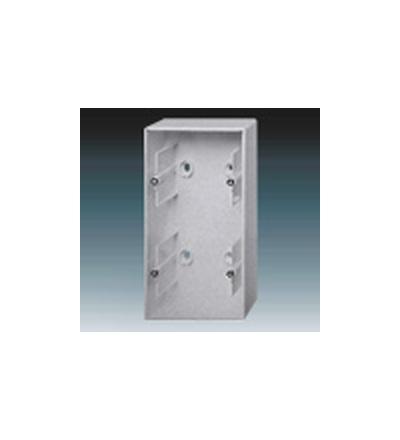 ABB Krabice přístrojová dvojnásobná, nástěnná hliníková stříbrná 1799-0-0906