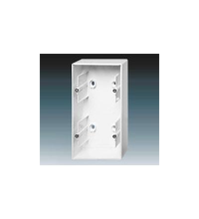 ABB Krabice přístrojová dvojnásobná, nástěnná studio bílá 1799-0-0902