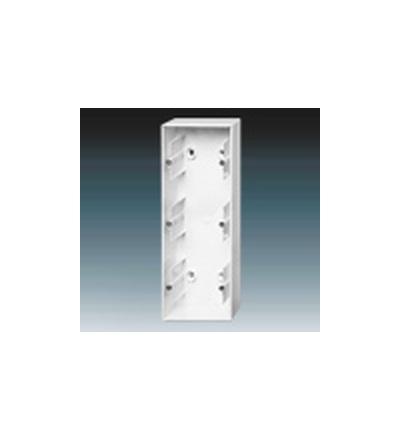 ABB Krabice přístrojová trojnásobná, nástěnná studio bílá 1799-0-0918