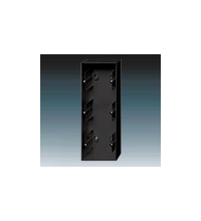 ABB Krabice přístrojová trojnásobná, nástěnná mechová černá 1799-0-0956