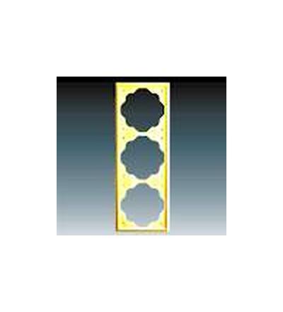 ABB Rámeček pro elektroinstalační přístroje, trojnásobný zlatá 1754-0-3591