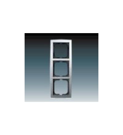 ABB Rámeček pro elektroinstalační přístroje, trojnásobný chromová 1754-0-4106