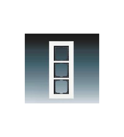 ABB Rámeček pro elektroinstalační přístroje, trojnásobný bílé sklo 1754-0-4444