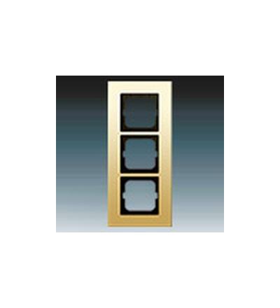 ABB Rámeček pro elektroinstalační přístroje, trojnásobný zlacená mosaz 1754-0-4358
