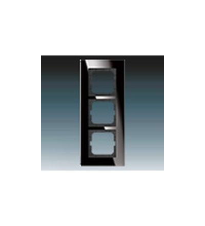 ABB Rámeček pro elektroinstalační přístroje, trojnásobný černé sklo 1754-0-4324