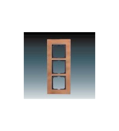ABB Rámeček pro elektroinstalační přístroje, trojnásobný ušlechtilá ocel 1754-0-4256