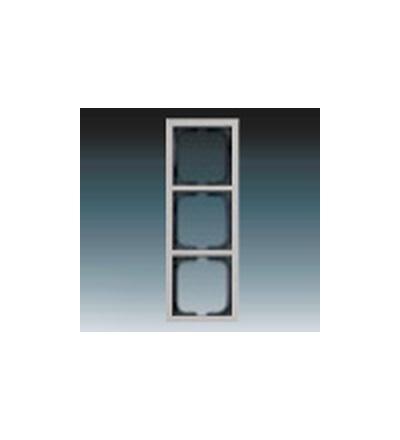 ABB Rámeček pro elektroinstalační přístroje, trojnásobný ušlechtilá ocel 1754-0-4319