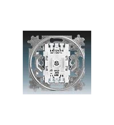 ABB Přístroj spínače žaluziového kolébkového, řazení 1+1 s blokováním 3559-A89345