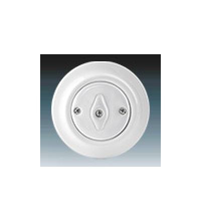 ABB Přepínač střídavý, otočný bílá 3560K-C06345