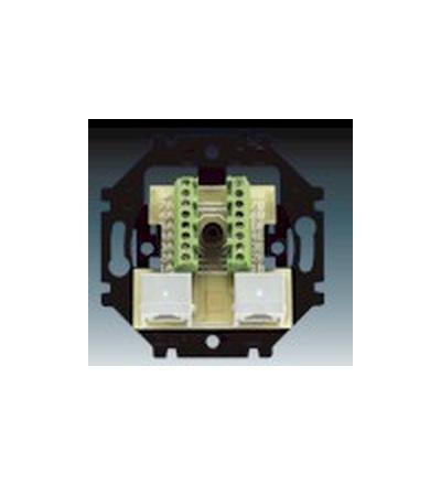 ABB Přístroj zásuvky ISDN průchozí dvojnásobné 5013U-A00152