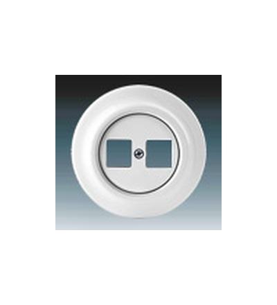 ABB Zásuvka komunikační dvojnásobná bílá 5014K-C01018