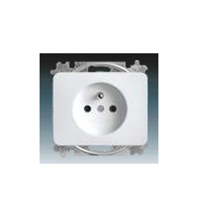 ABB Zásuvka jednonásobná s ochranným kolíkem alabastrová 5519B-A0234724G