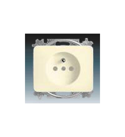 ABB Zásuvka jednonásobná s ochranným kolíkem, s clonkami slonová kost 5519B-A0235722G