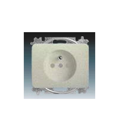 ABB Zásuvka jednonásobná s ochranným kolíkem, s clonkami titanová 5519B-A02357266