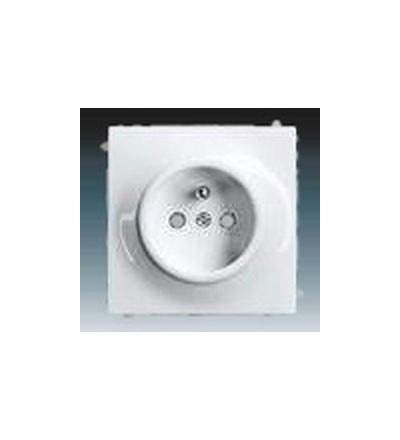 ABB Zásuvka jednonásobná s ochranným kolíkem, s clonkami alpská bílá 5519B-A0235774