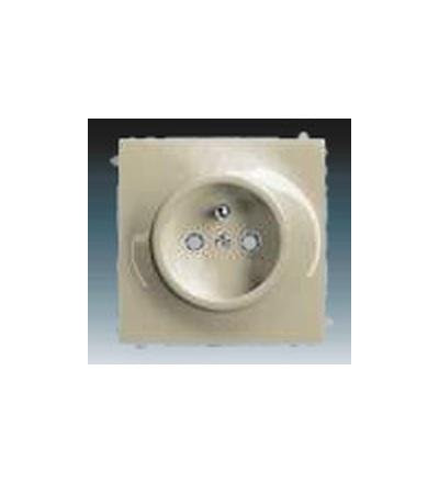 ABB Zásuvka jednonásobná s ochranným kolíkem, s clonkami šampaňská metalíza 5519B-A0235779