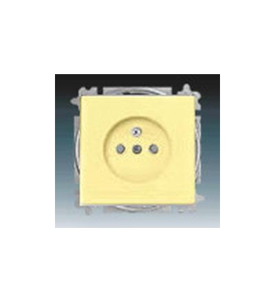ABB Zásuvka jednonásobná s ochranným kolíkem, s clonkami žlutá 5519B-A02357815
