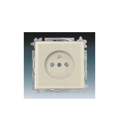 ABB Zásuvka jednonásobná s ochranným kolíkem, s clonkami slonová kost 5519B-A0235782
