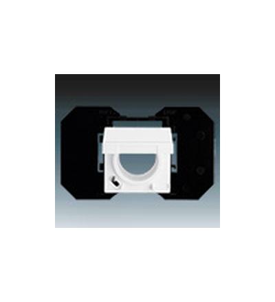 ABB Zásuvka centrálního vysávání mechová bílá 5530B-A67107884