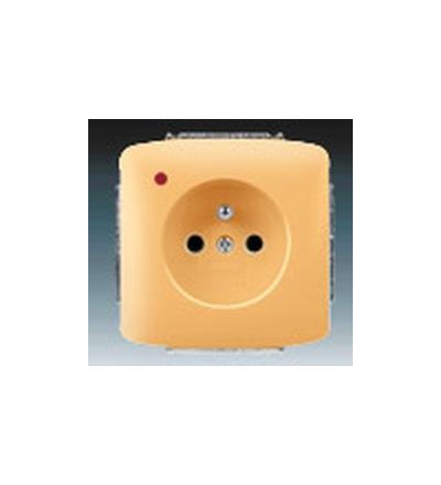 ABB Zásuvka jednonásobná s ochranným kolíkem, s ochranou před přepětím béžová 5598A-A2349D