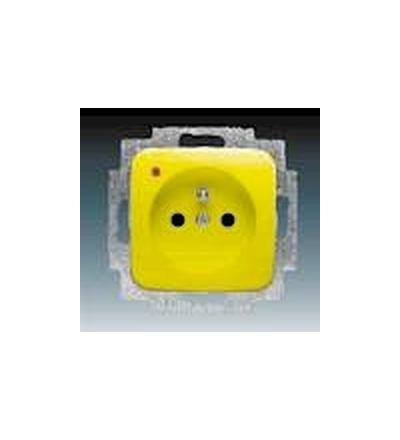 ABB Zásuvka jednonásobná s ochranným kolíkem, s ochranou před přepětím žlutá 5598D-A2349Y