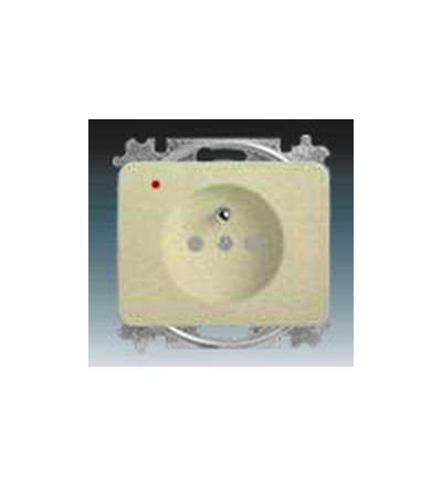 ABB Zásuvka jednonásobná s ochranným kolíkem, s clonkami, s ochranou před přepětím palladium 5599B-A02357260