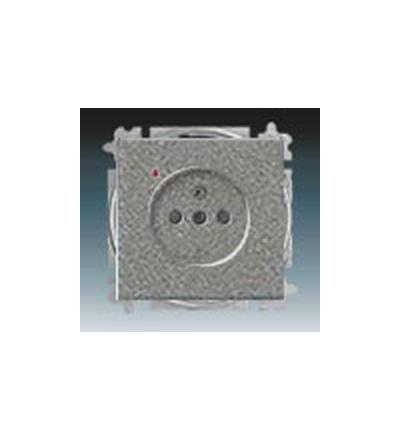 ABB Zásuvka jednonásobná s ochranným kolíkem, s clonkami, s ochranou před přepětím metalická šedá 5599B-A02357803