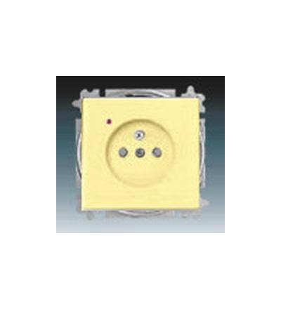 ABB Zásuvka jednonásobná s ochranným kolíkem, s clonkami, s ochranou před přepětím žlutá 5599B-A02357815