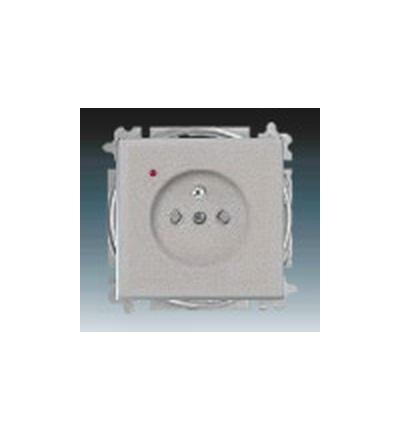 ABB Zásuvka jednonásobná s ochranným kolíkem, s clonkami, s ochranou před přepětím ušlechtilá ocel 5599B-A02357866