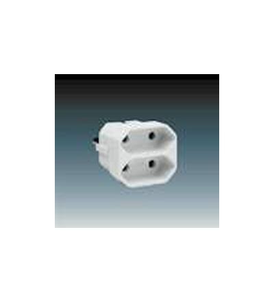 ABB Adaptor dvojnásobný přímý bílá 5671-1127