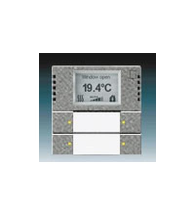 ABB Snímač teploty s regulátorem a prvkem ovládacím 2- / 4násobným, zapuštěný metalická šedá 6134-0-0291