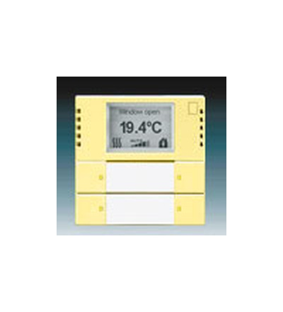 ABB Snímač teploty s regulátorem a prvkem ovládacím 2- / 4násobným, zapuštěný žlutá 6134-0-0292