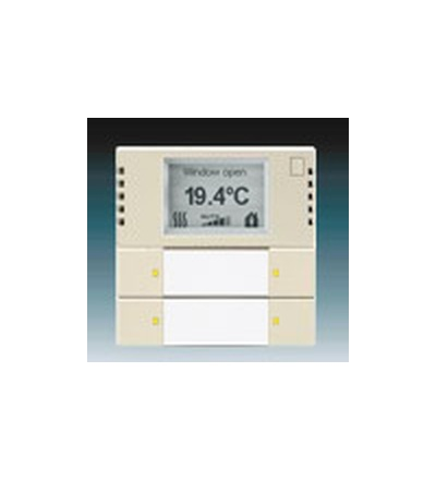 ABB Snímač teploty s regulátorem a prvkem ovládacím 2- / 4násobným, zapuštěný slonová kost 6134-0-0285