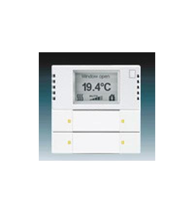 ABB Snímač teploty s regulátorem a prvkem ovládacím 2- / 4násobným, zapuštěný studio bílá 6134-0-0261