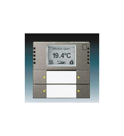 ABB Snímač teploty s regulátorem a prvkem ovládacím 2- / 4násobným, zapuštěný ušlechtilá ocel 6134-0-0290