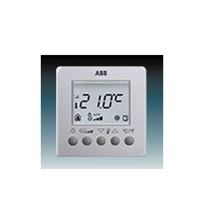 ABB Termostat prostorový pro fan-coily, nástěnný hliníková stříbrná 6138-0-0005
