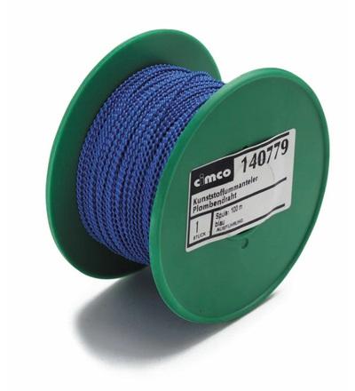 CIMCO Plombovací drát 0,5 x 0,6 mm modrý - 100 m 140779