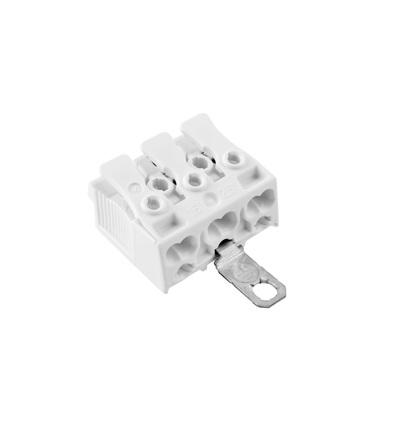 Svorkovnice SLK 3/3 E-SCHR (bez potisku) pro svítidla, bezšroubová, PC, bílá /88167570, ELEMAN 1000033