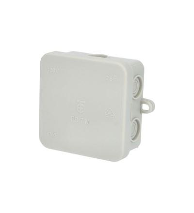 Krabice rozbočovací FD7, plastová, s naklap. víčkem, 7x 2,5mm2, na omítku, IP54 /88167408, ELEMAN 1000049