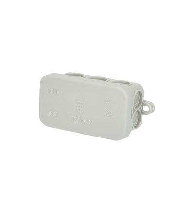 Krabice rozbočovací FD10, plastová, s naklap. víčkem, 6x 2,5mm2, na omítku, IP54 /88167426, ELEMAN 50