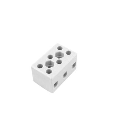 Svorkovnice keramická AK 3/15 BI (2-1603-3), 3pól., 3x10mm2, 32A, T350, porcelánová (bílá), ELEMAN 1000071