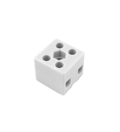 Svorkovnice keramická AK 2/25 BI (2-2021-2), 2pól., 2x16mm2, 57A, T350, porcelánová (bílá), ELEMAN 1000073