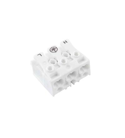Svorkovnice SLK 3/3 E-PIEC (N-E-L) pro svítidla, bezšroubová, PC, bílá /88167522, ELEMAN 1000141