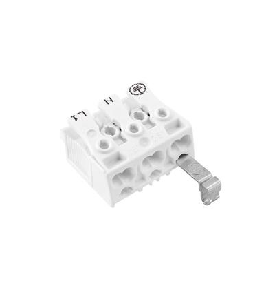 Svorkovnice SLK 3/3 E-ST (E-N-L) pro svítidla, bezšroubová, PC, bílá /88167526, ELEMAN 1000146