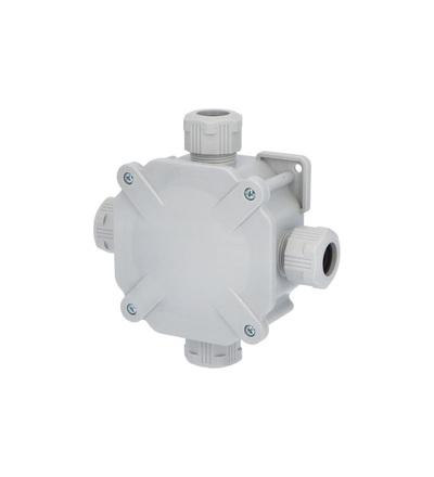 Krabice rozbočovací AC 6455, plastová, s víčkem na šrouby, 4x vstup, na omítku, IP67, ELEMAN 1000245
