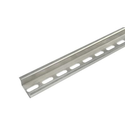 Lišta nosná TS35/1-7,5 (DIN lišta) - perforovaná, hloubka 7,5mm, 1m, pozink., ELEMAN 322 (20 ks)