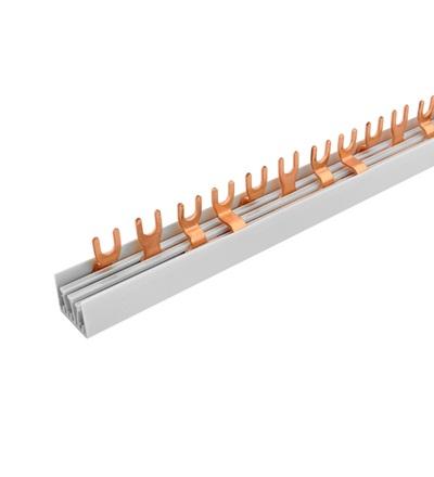 Prop. lišta G-4L-1000/10 lišta, vidlička, 4pól., 63A, rozteč 17,8mm, ELEMAN 376 (15 ks)